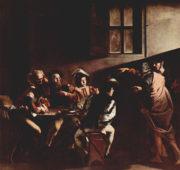 La vocation de Saint Matthieu (Caravage, 1599-1600, Église Saint Louis des Français, Rome)