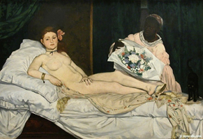 Olympia (Édouard Manet, 1863, Musée d'Orsay)